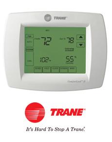 trane comfort controls products r e whitley inc heating air rh rewhitleyinc com Trane Thermostat Troubleshooting Trane ComfortLink Thermostat Battery Replacement